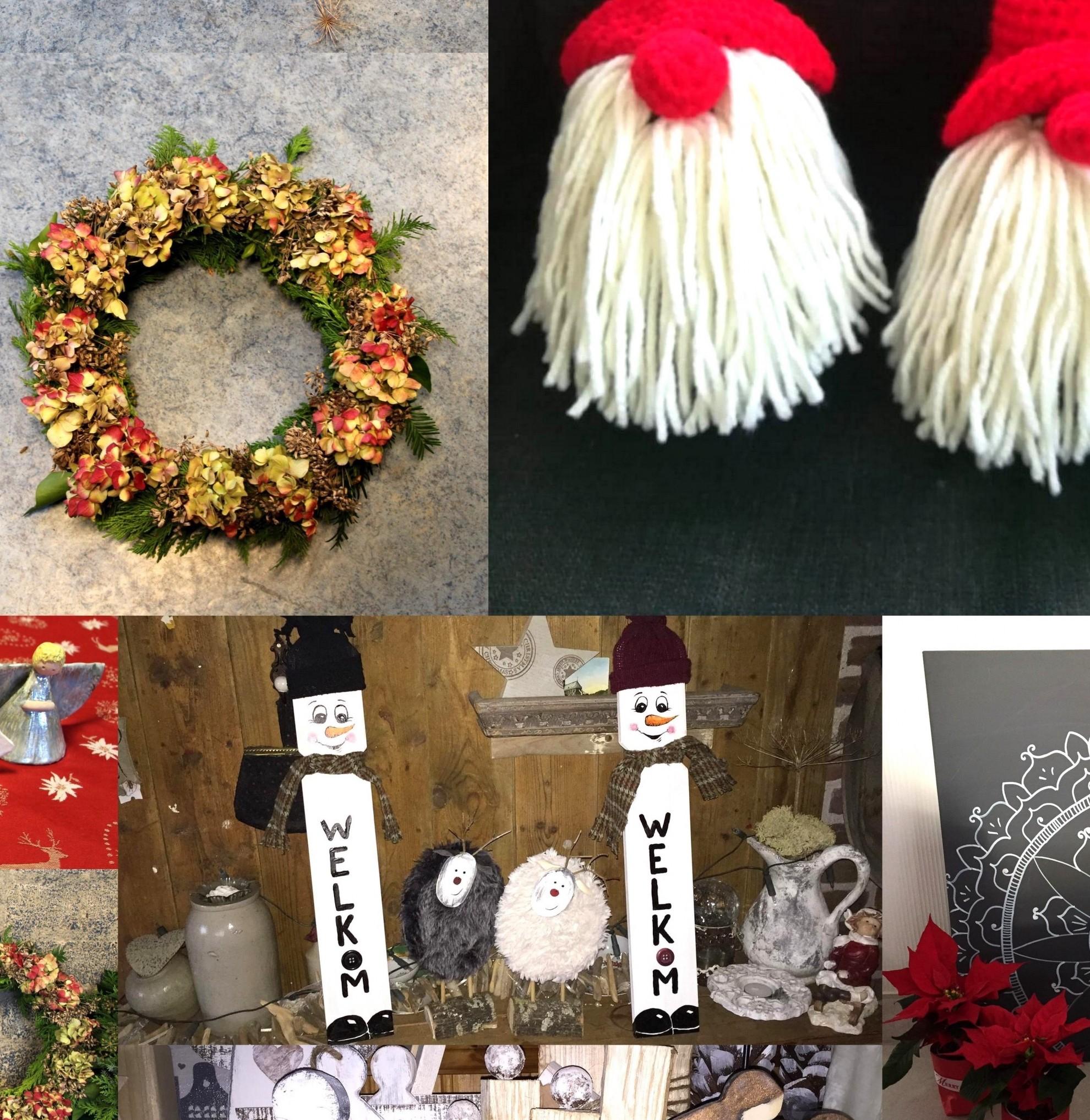 Kerstontmoetingsfair - maken kransen en kerststukjes