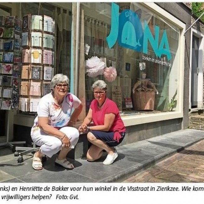 Boekhandel Jona zoekt vrijwilligers